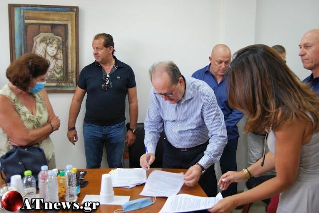 Συμβάσεις αθλητικών έργων 650.000 ευρώ στην Κορινθία υπέγραψε ο Παναγιώτης Νίκας