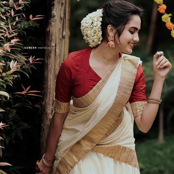 Malayalam actress Devika Sanjay latest Onam photos