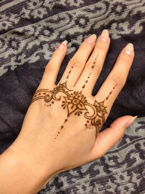 Gambar Mahendi Tangan Simple : gambar, mahendi, tangan, simple, Contoh, Henna, Simple, Telapak, Tangan, Materi, Pelajaran
