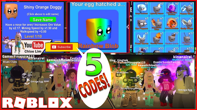 Roblox Mining Simulator Gameplay! 5 NEW CODES SHINIES UPDATE
