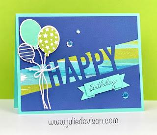 Stampin' Up! So Much Happy Birthday Card ~ www.juliedavison.com #stampinup