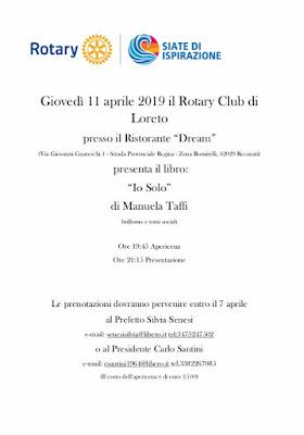 Eventi-Presentazioni Aprile 2019 Io Solo Manuela Taffi, libro sul bullismo e temi sociali