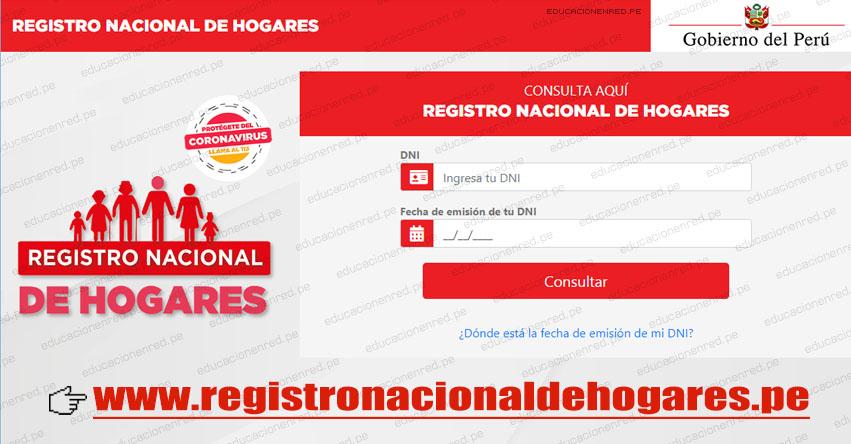 REGISTRO NACIONAL DE HOGARES: Ingresa tus datos en la plataforma virtual para acceder al Bono Universal Familiar (Preguntas Frecuentes) www.registronacionaldehogares.pe