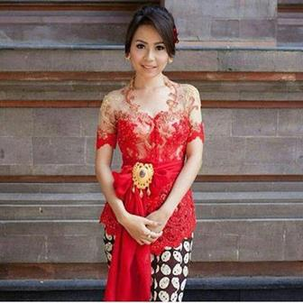 Model Baju Kebaya Wisuda Lengan Pendek