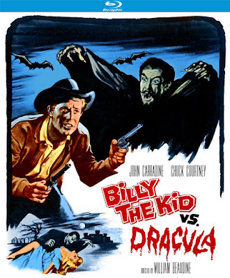 BILLY THE KID VS. DRACULA Blu-ray cover - Released by Kino Lorber Studio Classics!