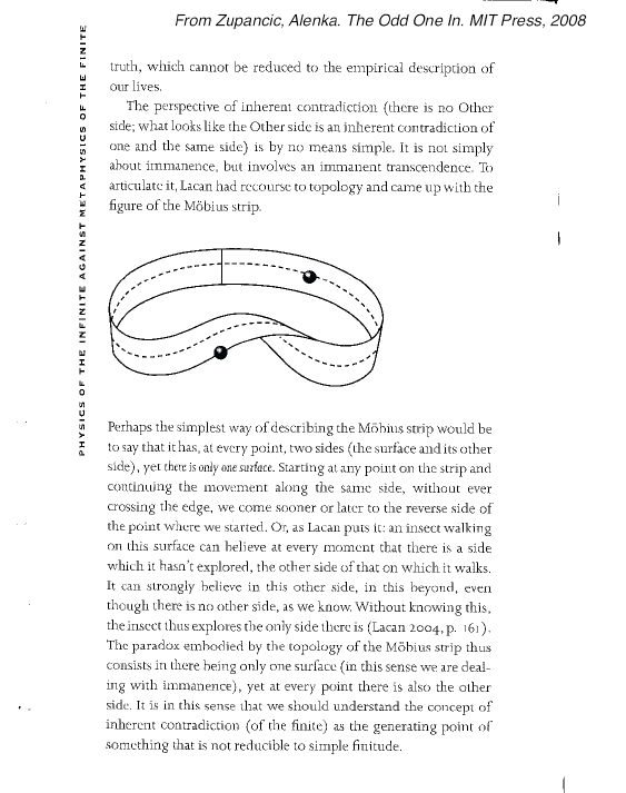 THE CINEMATIC MUSICAL: Alenka Zupancic on the Mobius strip