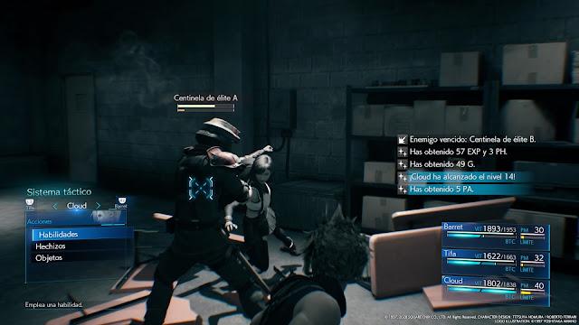 FF 7 Remake - Sistema táctico
