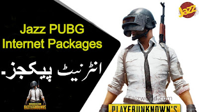Jazz PUBG internet Packages Daily, Weekly & Monthly