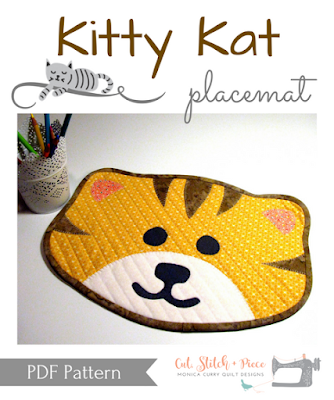 Kitty Kat Quilted Placemat Pattern by Monica Curry