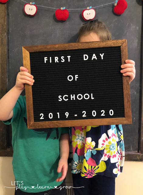 Take fun back to school pictures with your kids to remember what they looked like on the first day of school