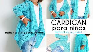 Cárdigan Crochet para Niñas de 6 a 10 años | Tutorial