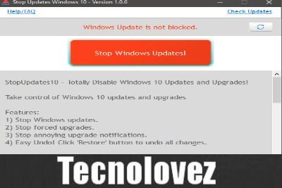 StopUpdates10 - Disattivare o Bloccare Aggiornamenti di Windows 10