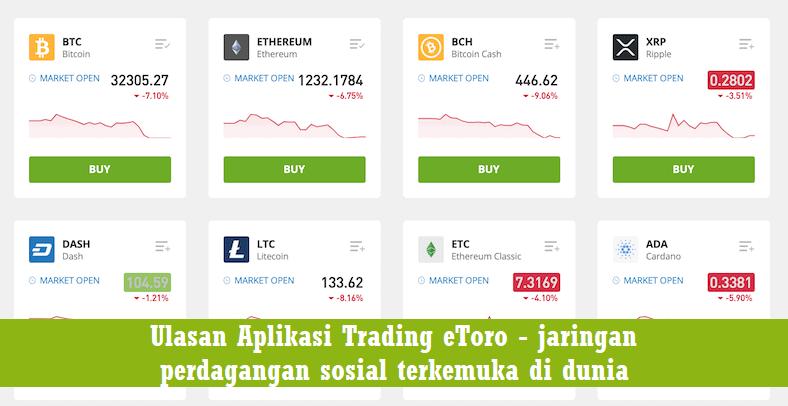Ulasan Aplikasi Trading eToro - jaringan perdagangan sosial terkemuka di dunia