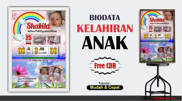 Biodata Kelahiran Anak CorelDraw Free CDR