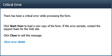 There has been a critical error while processing the form. Object doesn't support property or method 'addEventListener'