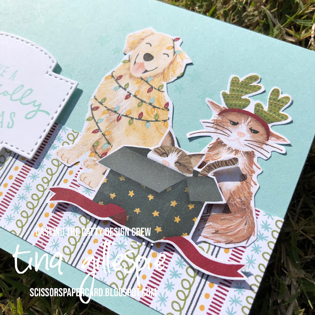 scissorspapercard, Stampin' Up!, CASEing The Catty, Christmas To Remember, Label Me Bold, Sweet Stockings DSP, Stitched So Sweetly, Christmas Card