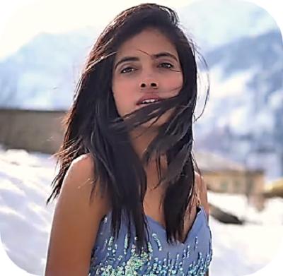 An emerging Bollywood actor, Monalisa.