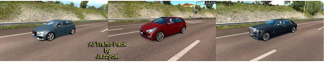 ets 2 ai traffic pack v10.2 by jazzycat new cars, Rolls Royce Phantom VIII, Audi A3 Sportback '16, Hyundai i20