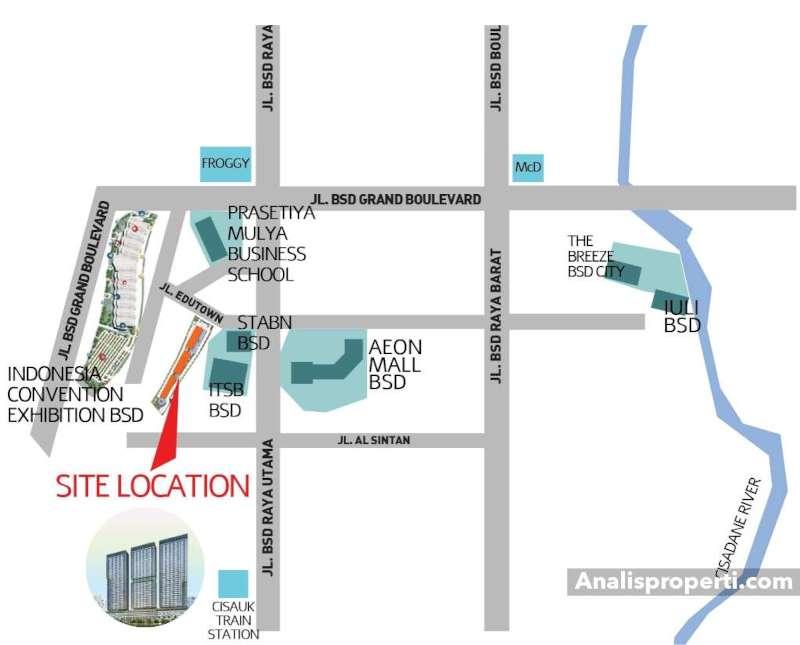 Peta Lokasi Apartemen B Residence