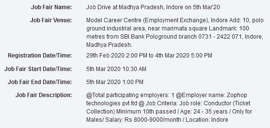 Job Fair in Indore