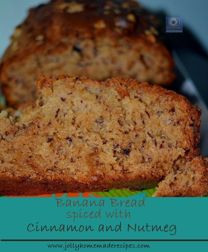 Nutmeg Cinnamon Spiced Banana Bread Recipe
