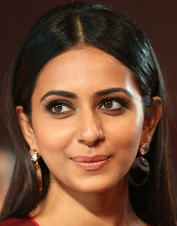 Telugu Actress Rakul Preet Singh Oily Face close Up Pictures (3)