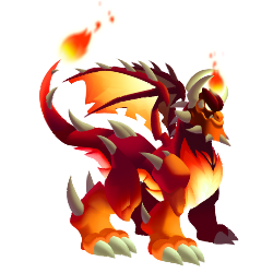 Appearance of Super Flame Dragon when adult