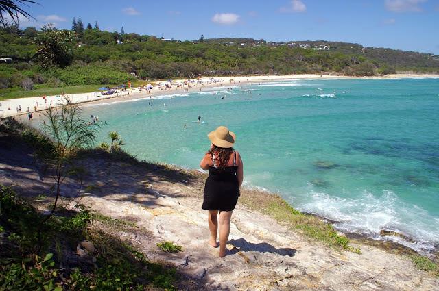 Girl at Cylinder Beach Stradbroke Island