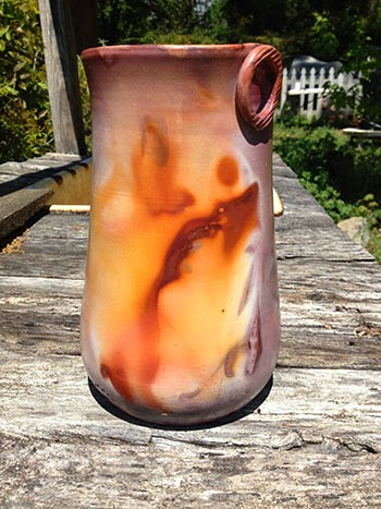 Fumed Naked Raku Vase by Future Relics Gallery