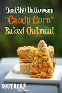 Healthy Candy Corn Baked Oatmeal Recipe