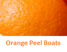 Orange Peel Boats - Oranges citrus fruit peel (Santre Ke Chilke)