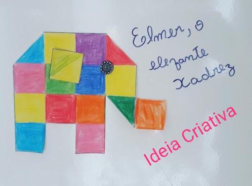 Ideias criativas Elmer, o elefante Xadrez