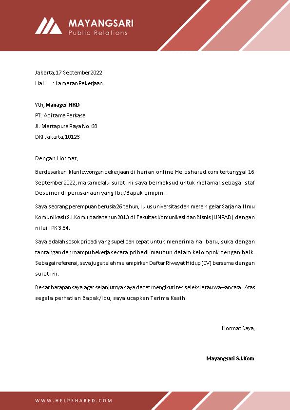 Kop Surat Lamaran Kerja 25