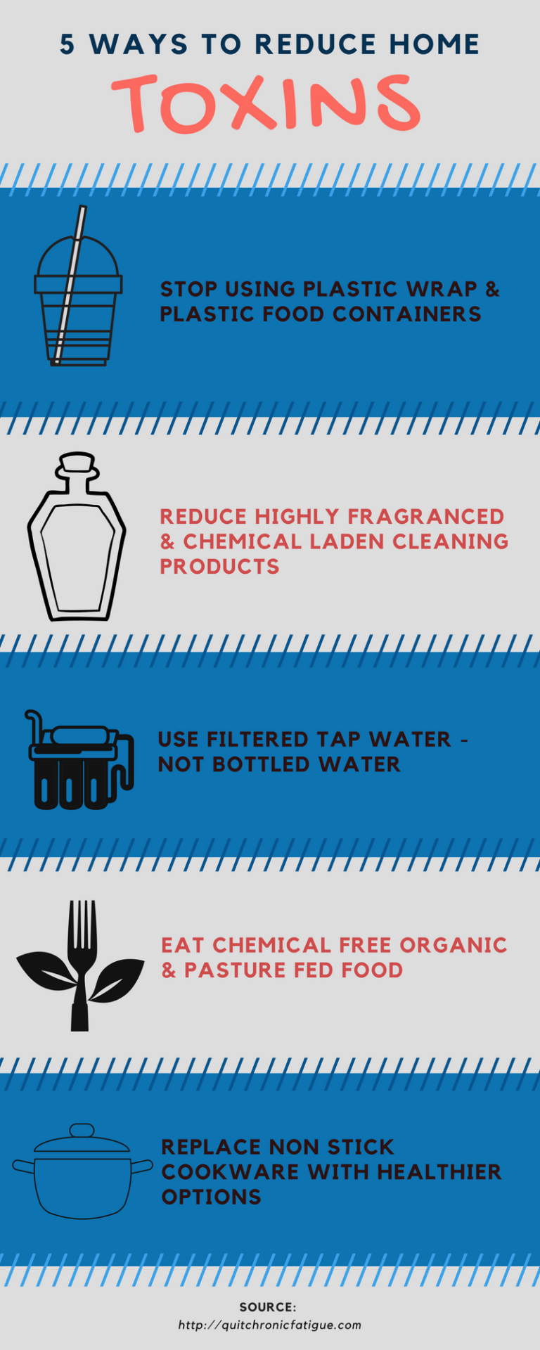 How to reduce toxins in your home – 5 Easy Ways #infographic