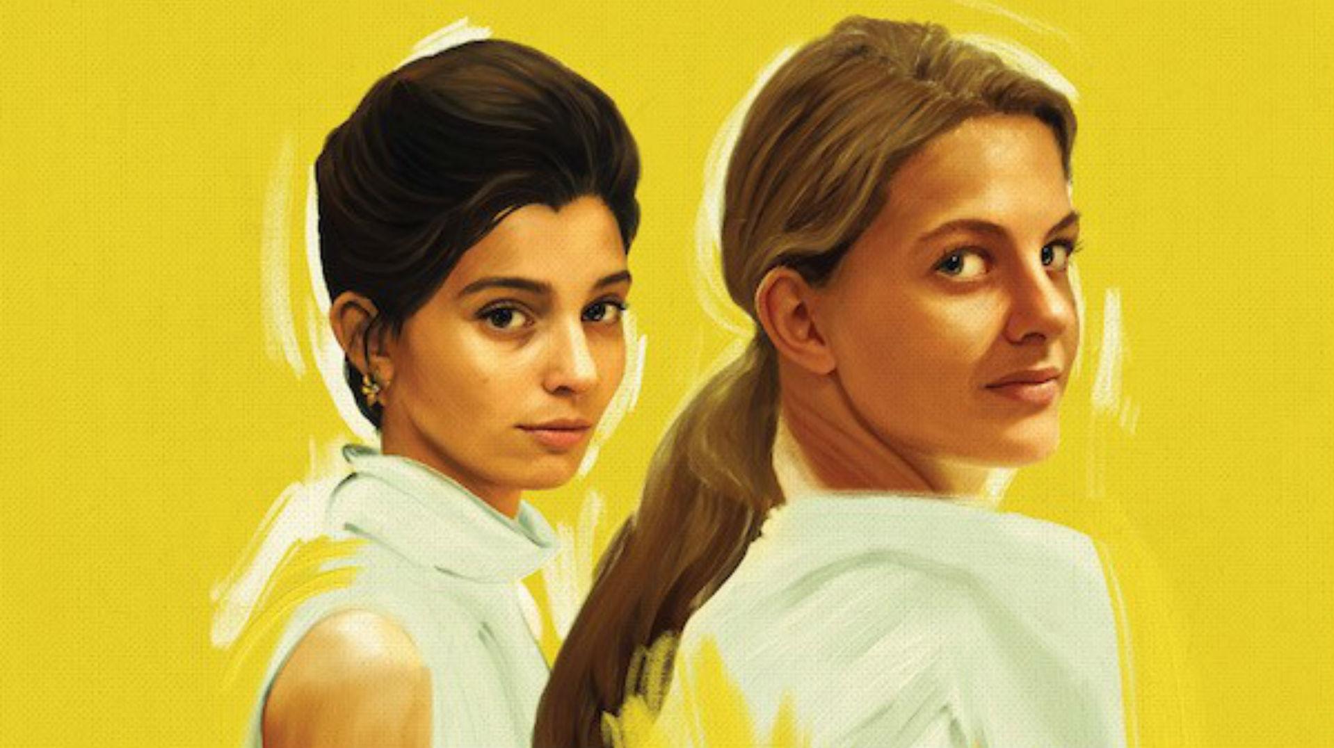 Lila y Lenú en un poster de La Amiga Estupenda