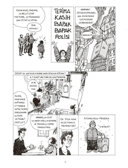 """page de """"MA VOISINE EST INDONESIENNE"""" de Emmanuel Lemaire"""