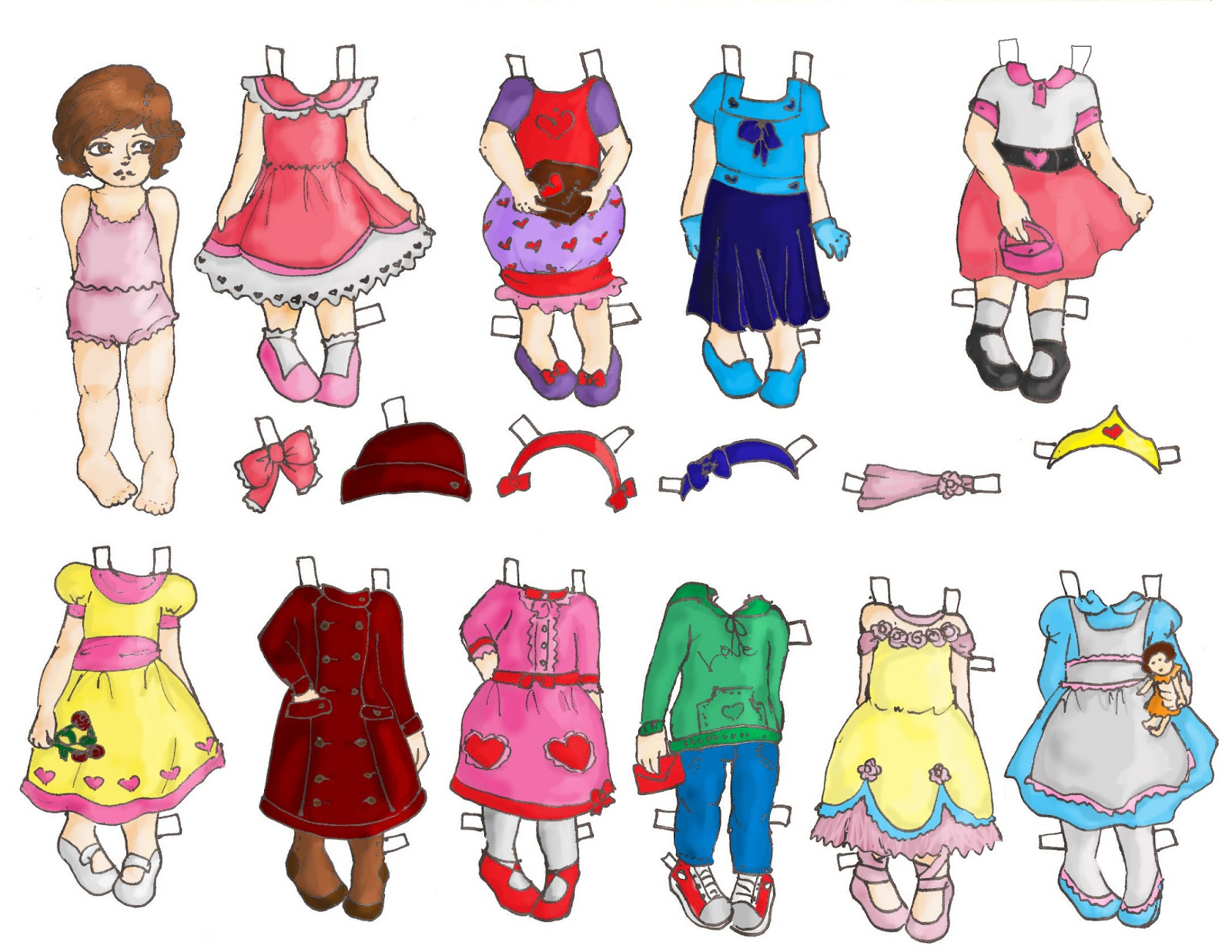 Miss Missy Paper Dolls Happy Late Valentine S Day