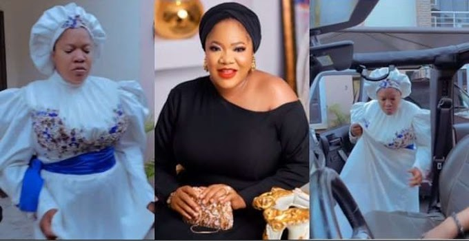 'You're always exceptional' – Fans react to Toyin Abraham's grand entry to the movie premiere of 'The Prophetess' (video)