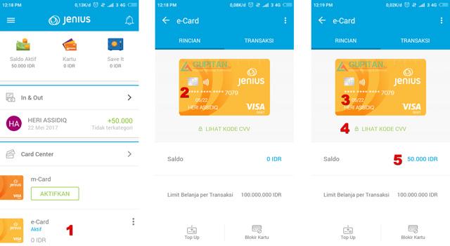 Aplikasi Jenius dari Bank BPTN