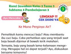 Kunci Jawaban Kelas 3 Tema 3 Subtema 3 Pembelajaran 3 www.simplenews.me