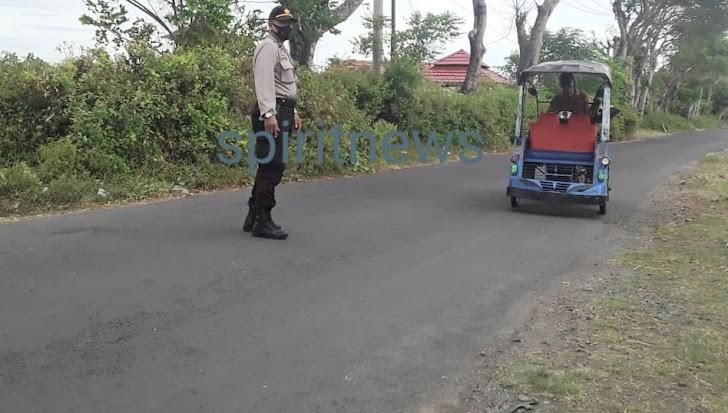 Ciptakan Rasa Aman, Personil Polsek Marbo Intensifkan Patroli Di Kawasan Tanggul Topejawa