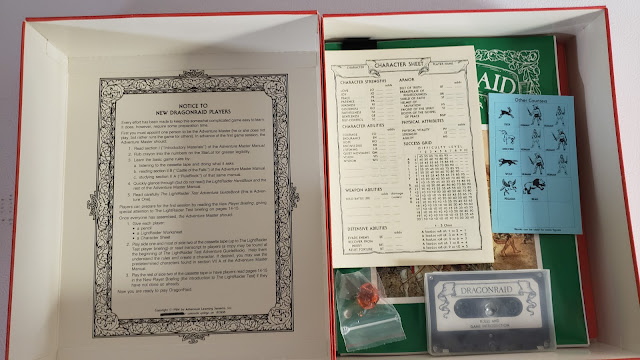 The DragonRaid RPG Box contents 1