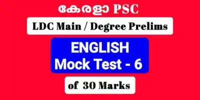 Mock Test of 30 Important Previous English Questions LDC Main / Degree Level Prelims