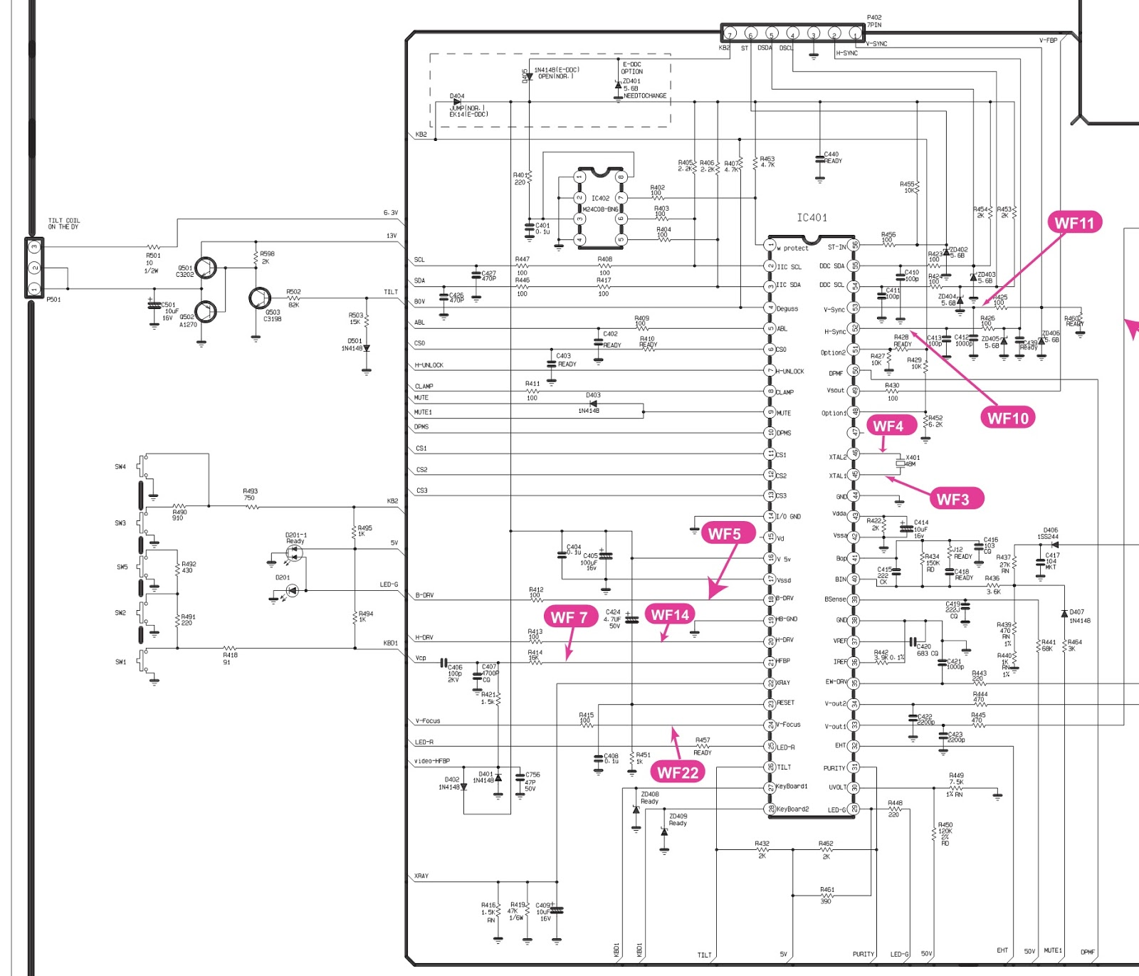 Working Of Crt Monitor With Diagram Harbor Breeze Fan Wiring Lg Flatron C17lc  17 Inch Circuit