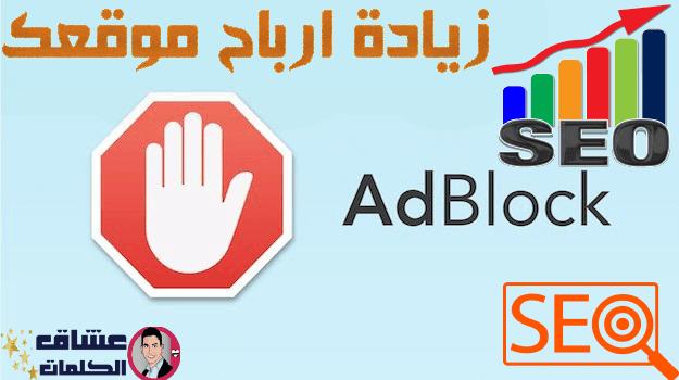 كيفية زيادة أرباح موقعك عن طريقة منع زوار مدونتك من أسخدام أضافة adblock