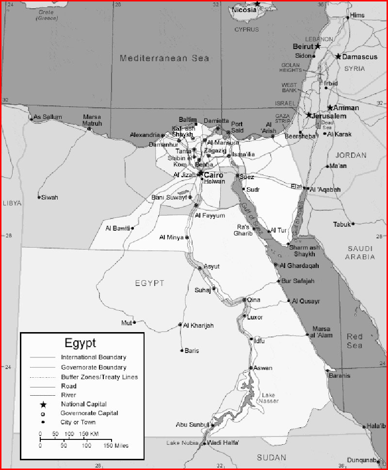 Egypt Map | World Map and Clipart Gallery