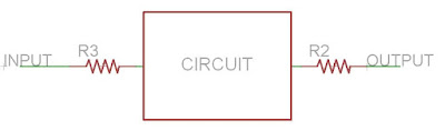 Input output resistor guitar effect