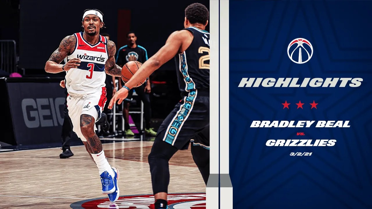 Bradley Beal 23pts 6reb 5ast vs MEN   March 2, 2021   2020-21 NBA Season