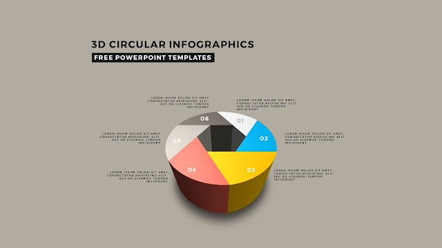 3D Circular Infographic Free PowerPoint Template Slide 11