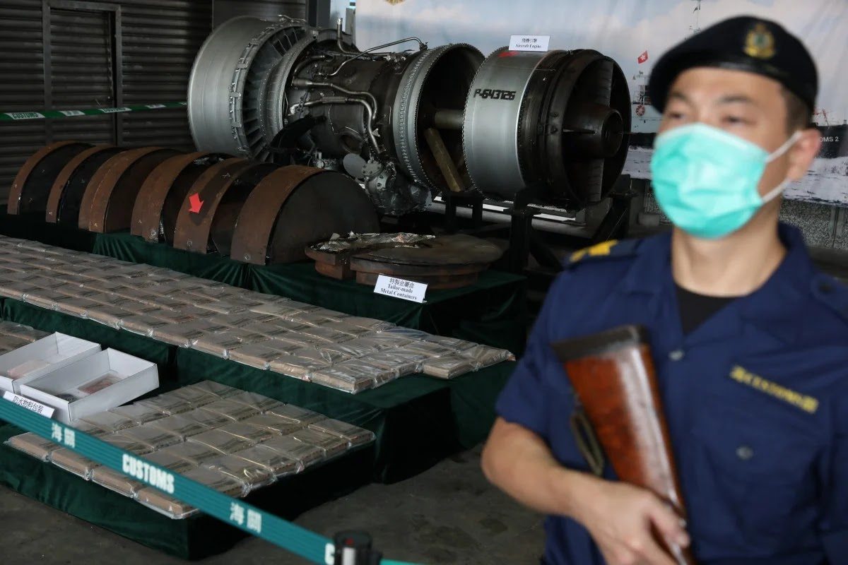 Record Quantity Of Cocaine Discovered Inside Jet Engine Shipped In Hong Kong